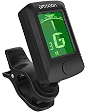 ammoon Guitar Tuner Digital Electronic Clip-On Tuner LCD Screen for Guitar Chromatic Bass Ukulele C/ D Violin