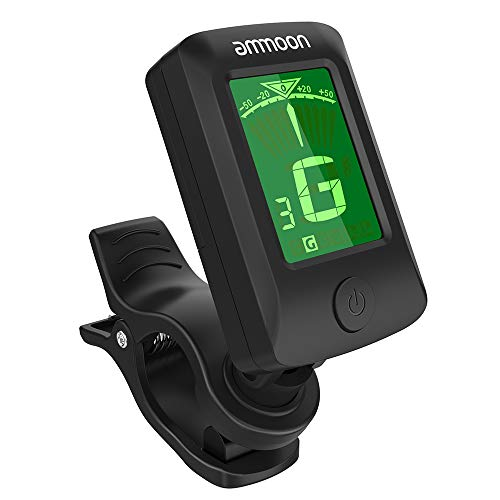 ammoon Guitar Tuner Digital Electronic Clip-On Tuner LCD Screen for Guitar...