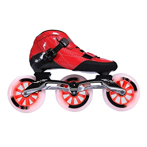 Fantastic Prices! Sljj Speed Roller Skates,3 X 110mm Wheel Racing Skates, Children's Adult Professio...