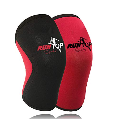 Knee Sleeves ( 1 PAIR ) 7 mm Neoprene Best Knee Supports Pain Compression Brace Cap for Squats, Crossfit WODS Weightlifting Powerlifting Strong Knee Pads For Men Women (M, Flower Power 3)