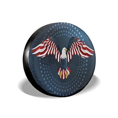 Delerain America Eagle - Cubiertas de repuesto impermeables a prueba de polvo, ajuste universal para Jeep, remolque, RV, SUV, camión y muchos vehículos (17 pulgadas de diámetro de 31 a 33 pulgadas)