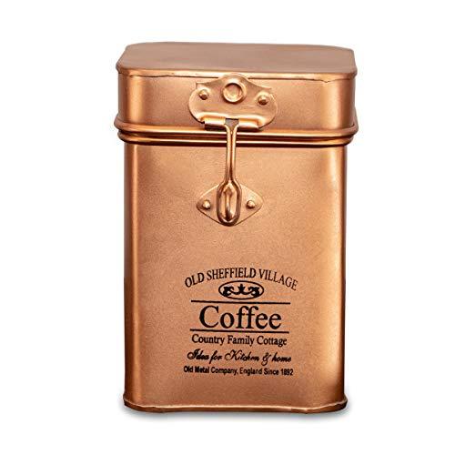 Antikas - Eisendose für Kaffee, Kupfergold, Vorratsdose, Dekoration, Küchenartikel