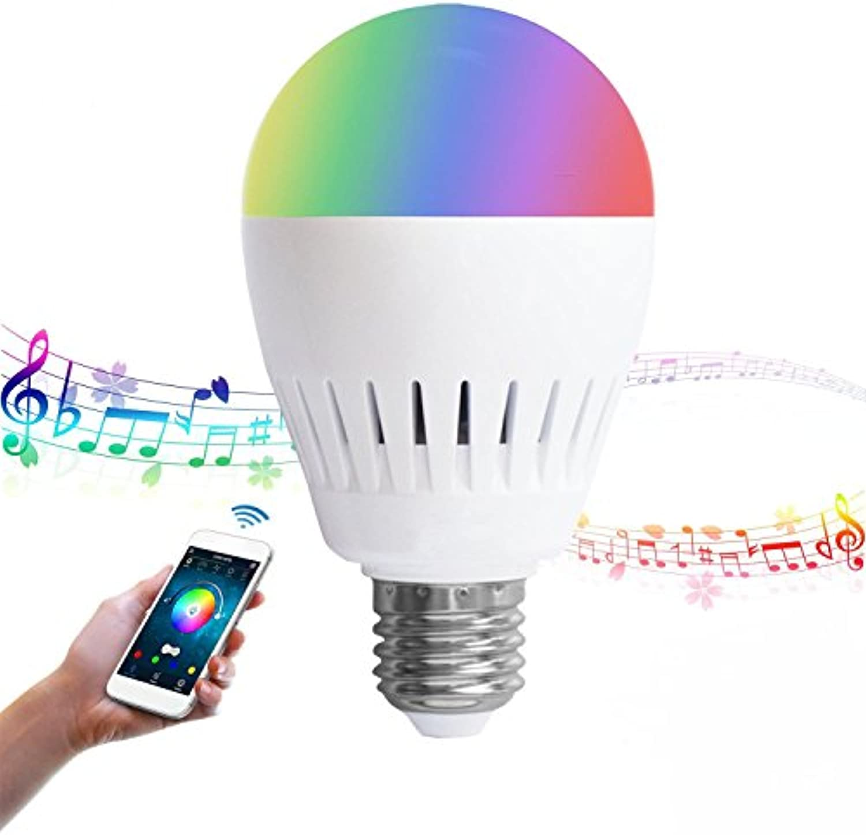 Bazaar E27 8W RGB + Warmwei Blautooth Lautsprecher Farbe ndern LED Smart Musik Glühbirne AC100-240V