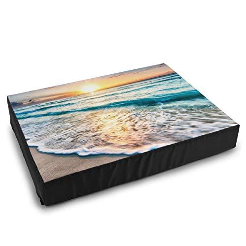 YAGEAD Haustierbetten Ozeane Sonnenuntergänge Wellen Katzenbetten für mittelgroße kleine Hundekissenbett