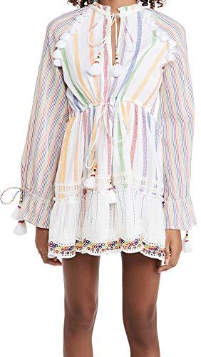 Hemant and Nandita Women's Short Rainbow Dress, Multi, Small