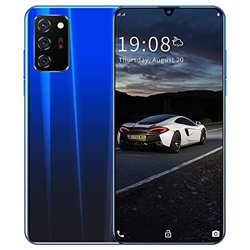 RUBAPOSM Note 20 Teléfono Inteligente Asequible, Teléfono Móvil 3G con Tarjeta Dual 6.26in, Cámara Triple HD 2+ 5MP, Cuatro Núcleos (1 + 8GB Memoria), Android 5.1,Azul