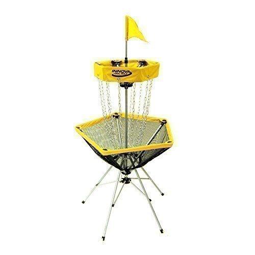 INNOVA Discgolf Ziel mobiler Frisbee Korb DisCatcher Traveler (GELB)