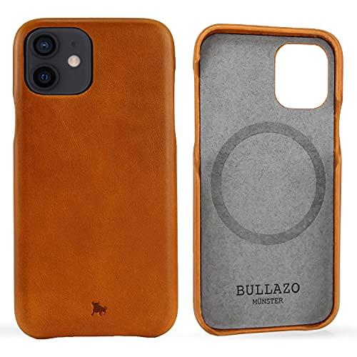 """BULLAZO Menor Classic - Compatible avec l'iPhone 12 Mini 5,4"""" Etui de Protection pour téléphone Portable en Cuir, Cognac"""