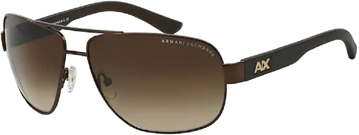 Armani Exchange AX2012S Pilot Sunglasses For Men+FREE Complimentary Eyewear Care Kit