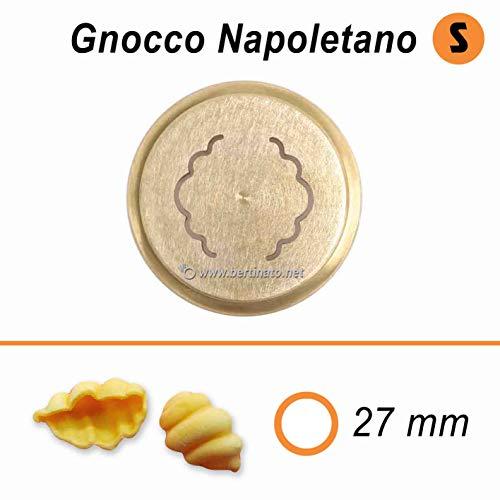 Trafila in bronzo per Pasta Gnocchi Napoletani per macchina pasta fresca professionale VIP/2 2,8kg e VIP4 4kg e compatibile FIMAR MPF 2,5 e MPF 4