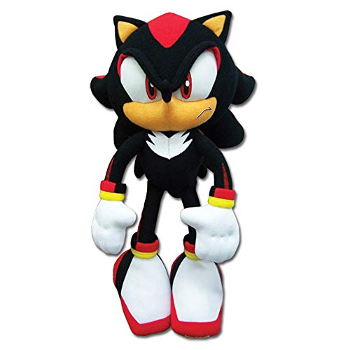 Sonic The Hedgehog New_8967 Great Eastern GE-8967 - Shadow Plush, 12', Multicolor