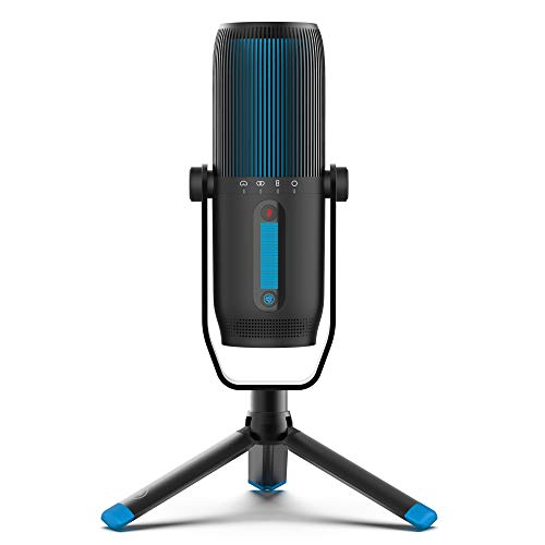 JLab Audio Talk PRO Microfono USB Plug and Play, Microfono per pc portatile con Controllo volume e Quick Mute - Microfono a Condensatore Professionale per Streaming, Podcasting e Gaming