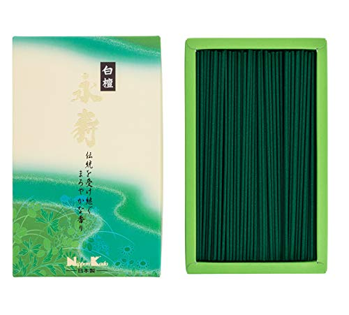 nippon kodo 22062eiju Sandalo Bianco incenso Verde 17x 10x 4cm