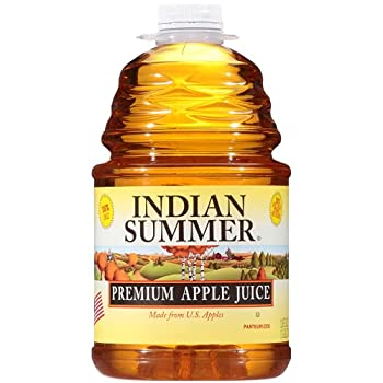Premium Apple Juice 100% Juice Made From Fresh U.S Apples 128 Fluid Ounce  Pack of 4  By Indian Summer