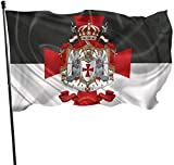 Viplili Flagge/Fahne, Knights Templar Coat of Arms Flags 3x5 Feet Garden House Outdoor Banners Decorative Flag