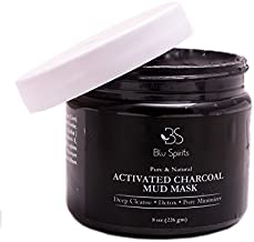 Charcoal Clay Mud Facial Mask - Pore Minimizer for Acne Treatment Blackhead Remover Peel Off Indian Healing Clay Pure Skin Cleansing Activated Face Masks