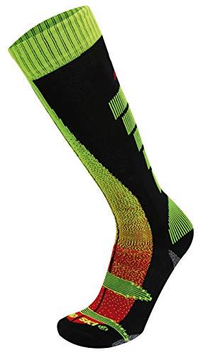 RYWAN Atmo Pro Ski Climasocks Skistrümpfe Snowboard Socken, Yellow/Black, 35-37