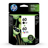 Get HP 60 | 2 Ink Cartridges | Black, Tri-color | For HP DeskJet D2500 Series, F2430, F4200 Series, F4400 Series, HP ENVY 100 Series, HP Photosmart C4600 Series, C4700 Series, D110a | CC640WN, CC643WN Just for $48.89