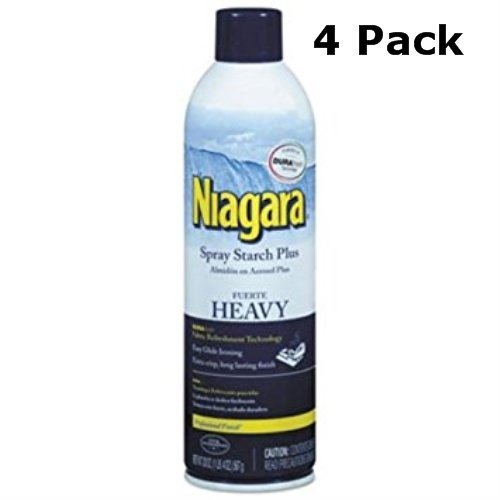 Niagara Heavy Spray Starch Plus Durafresh, Professional Finish, 20 Oz (4 Pack)