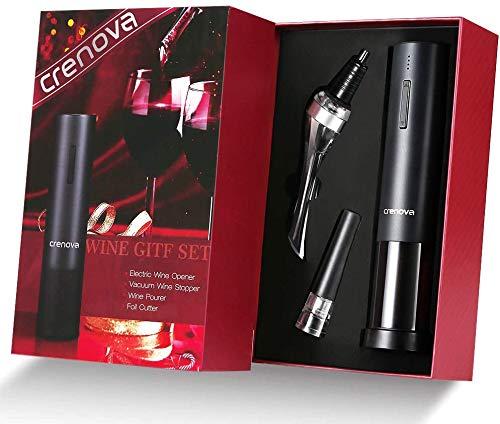Crenova 4-in-1 Electronic Wine Opener, Rechargeable Automatic Corkscrew Wine Bottle Opener set with...