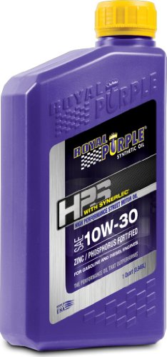 Royal Purple (36130-6PK) HPS 10W-30 Synthetic Motor Oil with Synerlec Additive Technology - 1 Quart, (Case of 6)