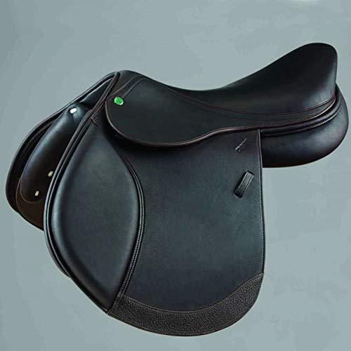 "Crosby Hunter Jumper Medium/Deep Seat Close Contact Jump Saddle w/Solid Leather - Dark Brown / 17"""