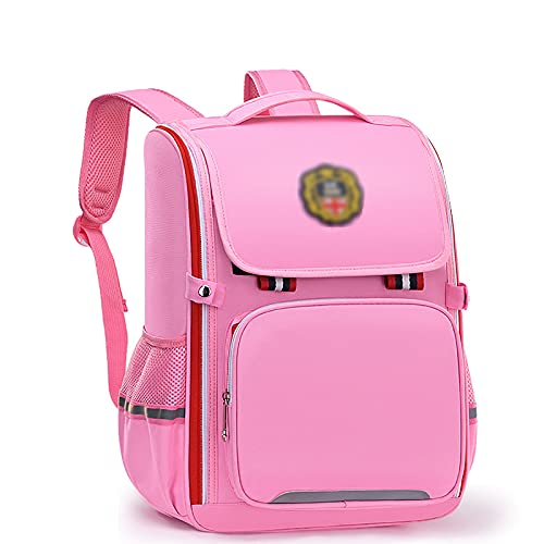 BMDHA Cartable Fille Primaire, Cartables with Reflective Strip Waterproof, Sacs Scolaires Multi-Layered High Capacity Sac Enfant Fille Primary School Student