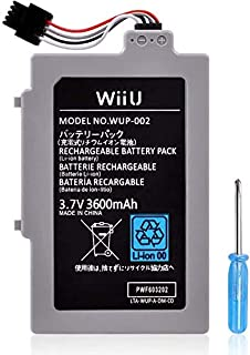 UCEC 3600 mAh Replacement Rechargeable Battery Pack for Wii U Gamepad