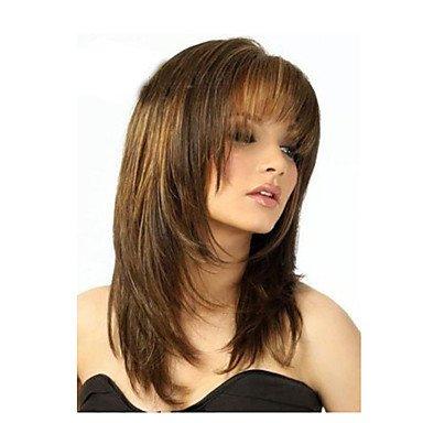 Meylee Pelucas HDGW peluca clásica venta caliente populares peluca sintética peluca barata , brown