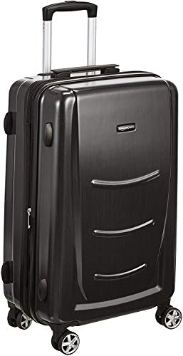 Amazon Basics Hard Shell Carry On Spinner Suitcase Luggage - 26.7 Inch, Slate Grey