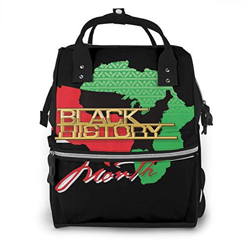 JUKIL Sac à dos à couches Black History African American Diaper Bag Backpack Multifunction Travel Back Pack Maternity Baby Nappy Changing Bags