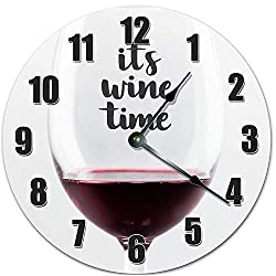 ITS Wine TIME 10.5 inch Wall Clock
