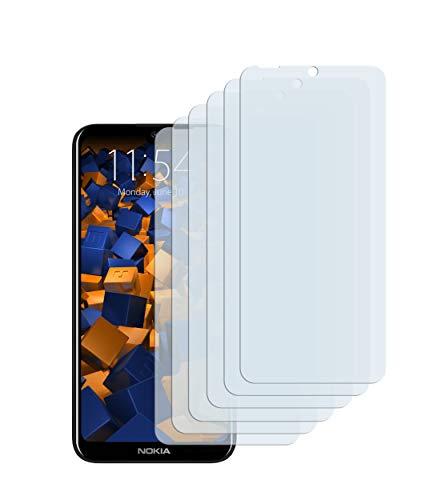mumbi Schutzfolie kompatibel mit Nokia 2.2 Folie klar, Bildschirmschutzfolie (6X)