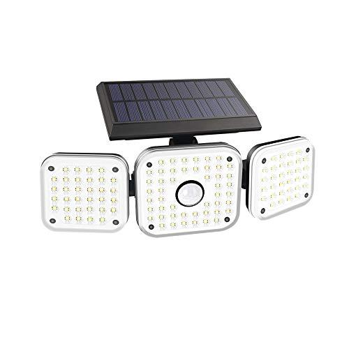 Auzev Solarlampen für Außen mit Bewegungsmelder, 112 LED Solarleuchten mit Bewegungsmelder IP 65 Wasserdichte Solar Wandleuchte Solar Aussenleuchte 360°Drehbare Solar Led Außen für Garte (1 Pack)