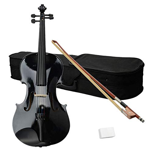 "Futureshine 16"" Acoustic Viola,Durable Natural Solid Wood Viola with Case,Bow and Rosin"