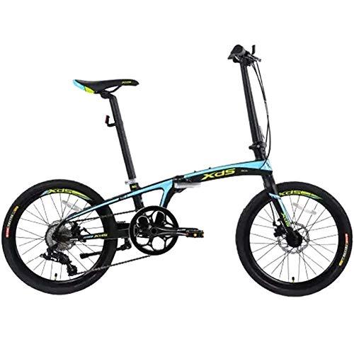 "20\"" Falträder, Erwachsene Unisex 8-Gang Doppelscheibenbremse Leichtes Faltrad, Aluminiumlegierung Leichtes tragbares Fahrrad Mountainbikes"
