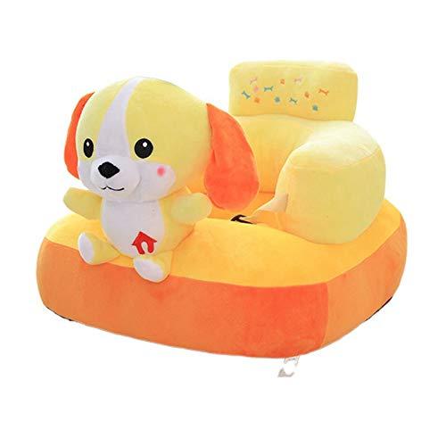 UNCTAD Gelb Baby Plüsch Stuhl Sofa Weich und hautfreundlich - Mit Musik und Lichtern Infant Learning Sitz Stuhl - für Babys ab 6 Monaten