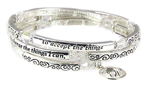 4031299 Serenity Prayer Coil Bracelet God Grant Me The Serenity AA Friend