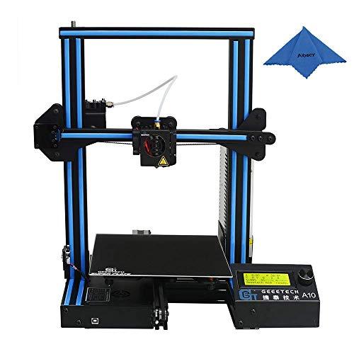 Geeetech Impresora 3D Kit (Versión Mejorada) DIY de aluminio I3 Impresora de escritorio de alta precisión CNC de alta precisión autoejecutada Versión de gran tamaño 220 * 220 * 260mm mejorada