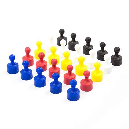 25 vollfarbige bunte Neodym Magnet-Pins/Push-Pins für Whiteboard, Kühlschrank