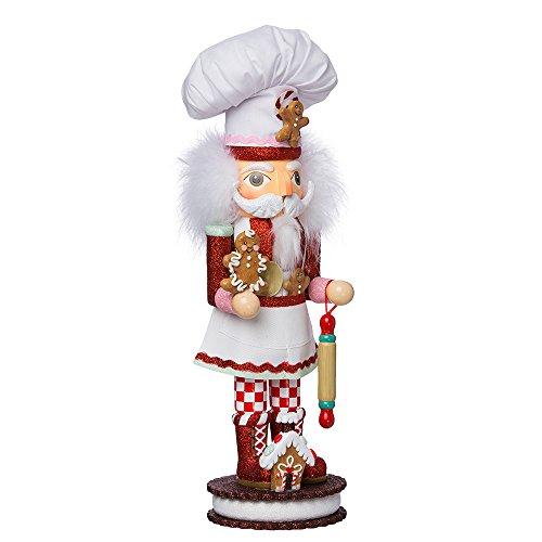 Kurt S. Adler 15-Inch Gingerbread Chef Nutcracker Kurt Adler Nussknacker, Lebkuchenchef, 38,1 cm, rot, Standard