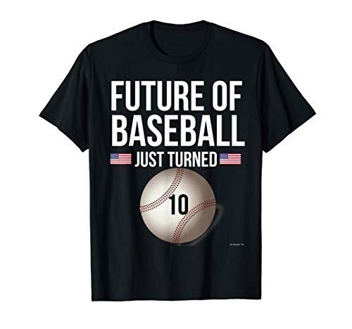 10th Birthday Baseball T Shirt For 10 Year Old Birthday Gift