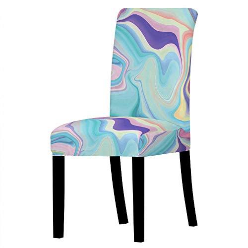 Fundas para sillas Caiyun Spandex Fundas sillas Comedor Lavable Extraíble Funda Muy fácil de Limpiar Duradera Modern Bouquet de la Boda Hotel Decor Restaurante 6/Piezas