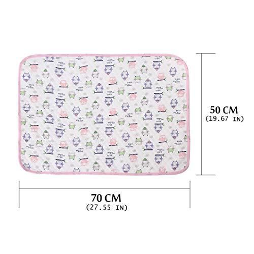 jinan Hot Koop Baby Waterdichte Ademende Pad Hoeslaken Baby Katoen Urine Isolerende Matrassen Pasgeboren Grote Pad M roze