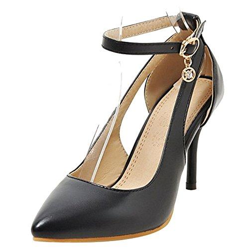 Onewus Damen Dress Pumps mit Stiletto Absatz Fesselriemen Schuhe