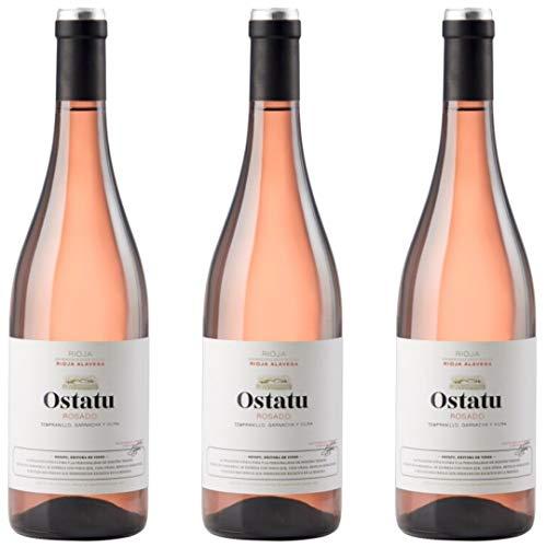 Ostatu Vino rosado - 3 botellas x 750ml - total: 2250 ml