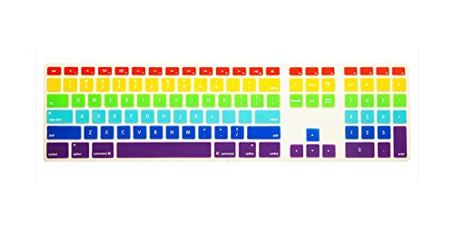 Us Rainbow Color Silicone Keyboard Folie voor desktop computer for imac
