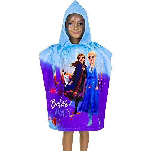 Disney Frozen Princess Anna and Elsa Kids Hooded Poncho Towel