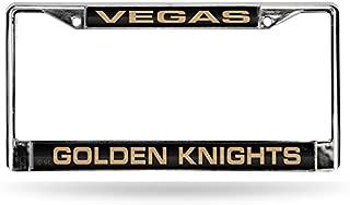 Rico Industries NHL Unisex-Adult NHL Laser Cut Inlaid Standard Chrome License Plate Frame