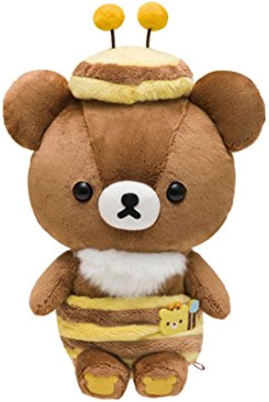 SanX Rilakkuma Stuffed toy (M) Harvest Festival of the honey forest (Brown bear) [MX20001] (Japan Import)